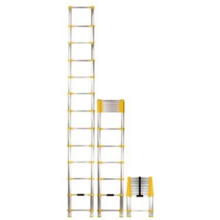 Xtend & Climb 12.5 ft. Telescoping Aluminum Extension Ladder with 225 lb. Load Capacity Type II Duty rating 770P