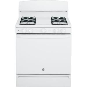 GE 4.8 cu. ft. Gas Range in White JGBS14PCFWW