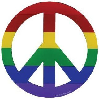 Funny & Novelty Magnets   Die Cut Magnet Rainbow Peace Sign  Refrigerator Magnets