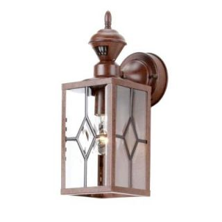 Heath Zenith Bayside Mission 150 Degree Outdoor Bronze Motion Sensing Lantern SL 4151 BR4
