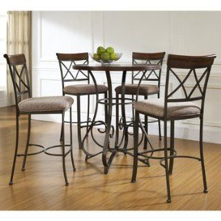 5 Pc. Hamilton Pub Table Set with 4 Bar Stools   By Powell   Dining Tables