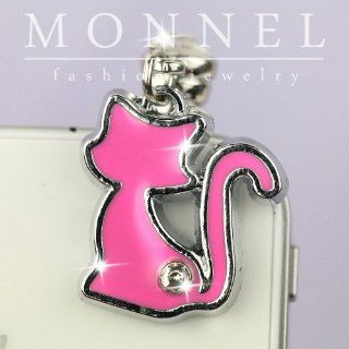 ip560 Cute Pink Pet Kitten Cat Dust Proof Phone Plug Cover Charm For Smart Phone Cell Phones & Accessories