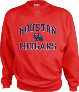 Houston Cougars Perennial Crewneck Sweatshirt  Athletic Sweatshirts  Sports & Outdoors