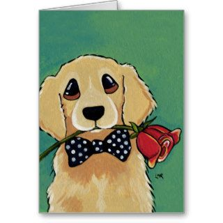 Cute Golden Retriever  Dog Thank You Card