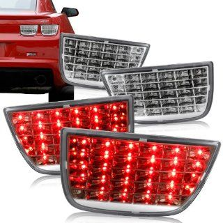 2010   2011 Chevy Camaro Chrome Housing w/ Clear Lens Sequential LED Tail Lights Automotive