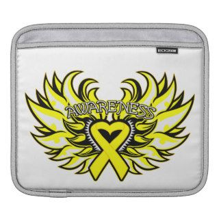 Suicide Prevention Awareness Heart Wings Sleeves For iPads