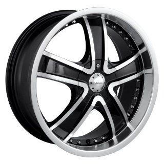 "Veloche Velvet 565 Black Wheel with Machined Face and Lip (18x7.5""/10x100mm) Automotive"