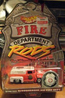 Hot Wheels Fire Department Rods '56 Ford Truck Albuquerque, NM Fire Dept Series 2 10/12 Toys & Games