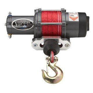 Viper Elite 3500lb ATV Winch & Custom Mount for Polaris Sportsman 550 & 850 Most Models with RED AmSteel� Blue synthetic rope Automotive