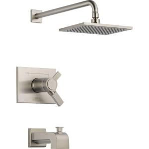 Delta Vero 1 Handle Thermostatic Tub and Shower Faucet Trim Kit Only in Stainless (Valve Not Included) T17T453 SS
