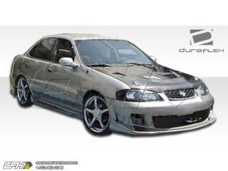 2000 2003 Nissan Sentra Duraflex Bomber Body Kit   4 Piece   Includes Bomber Front Bumper Cover (100148) Bomber Rear Bumper Cover (100149) Bomber Side Skirts Rocker Panels (100150) Automotive