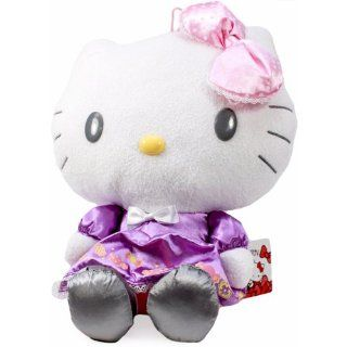 "Eikoh Hello Kitty Purple Dress Pastel Sweets Big 11.5"" Plush Toys & Games"