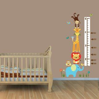 Color Me Happy Jungle Growth Chart Wall Decals, Jungle Stickers, Height Chart  Nursery Wall D?cor  Baby