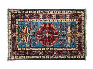 High Quality Hand Knotted 2' X 3' Mat Kazak 100% Wool Tribal Design Rug, Sh5058   Tribal Persian Rug