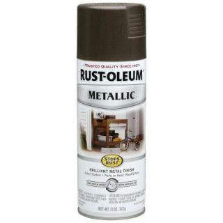 Rust Oleum Stops Rust 11 oz. Dark Bronze Bright Coat Metallic Spray Paint (6 Pack) 7272830