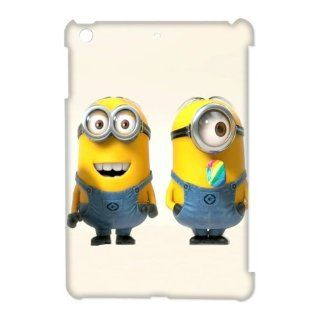 TP DIY Theme of Minions Custom Design 3D Printed Hard Cover Case for Apple Ipad Mini   Despicable Me Series TP DIY 00826 Cell Phones & Accessories