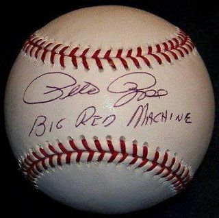 "Pete Rose ""Big Red Machine"" Signed Autographed Baseball LOA*   JSA Certified   Autographed Baseballs Sports Collectibles"