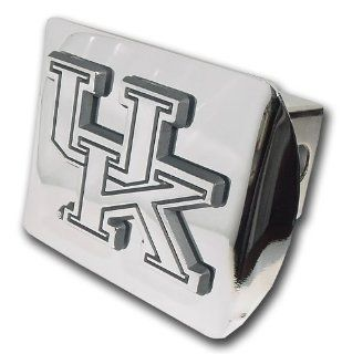 "University of Kentucky Wildcats ""Bright Polished Chrome with ""UK"" Emblem"" Metal Trailer Hitch Cover Fits 2 Inch Auto Car Truck Receiver with NCAA College Sports Logo Automotive"