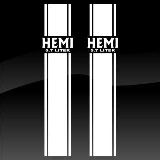 Dodge Hemi Bedside Stripe Kit Decal by Miss Decal, Inc.  Sports Fan Automotive Decals  Sports & Outdoors
