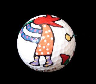 Chilies and Kokopelli Design Hand Painted Golf Ball Sports & Outdoors