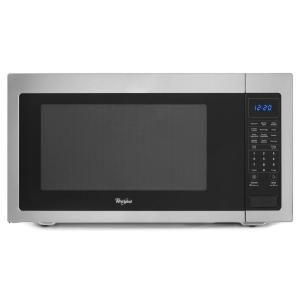 Whirlpool 2.2 cu. ft. Countertop Microwave in Stainless Steel, Built In Capable with Sensor Cooking WMC50522AS