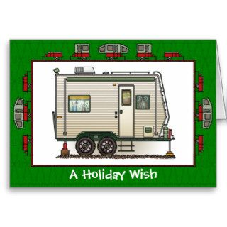 Cute RV Vintage Toy Hauler Camper Trailer Cards