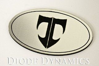 2003 2008 Hyundai Tiburon Steering Wheel Badge, Aluminum/Black Automotive