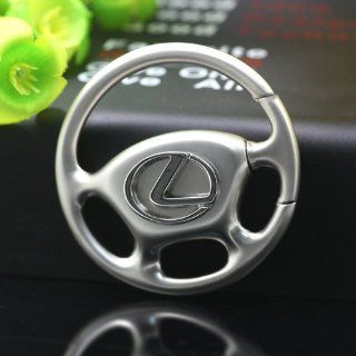 Lexus Steering Wheel Metal Keychain Key Ring with Box Motor Logo Car Accessories Brand Collect Part Type 13  Key Tags And Chains