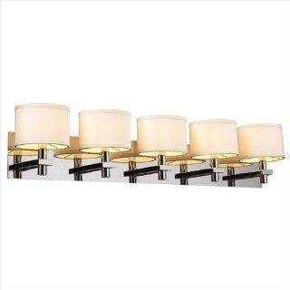 PLC Lighting 585 PC 5 Light Vanity, Concerto Collection, Polished Chrome Finish   Vanity Lighting Fixtures