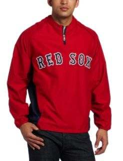 MLB Boston Red Sox Gamer Jacket Long Sleeve 1/4 Zip V Neck Gamer Jacket  Sports Fan Outerwear Jackets  Sports & Outdoors