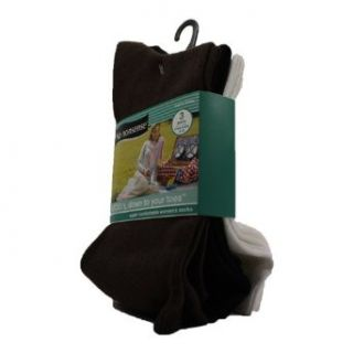 No Nonsense Cotton Crew Socks  Sugar Cookie Black White 3 Pack (Pack of 3) Clothing