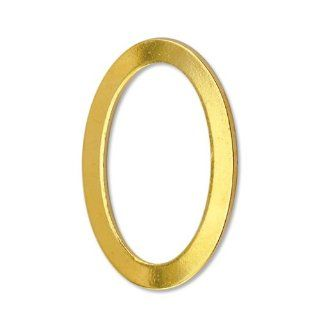 Beadalon 144 Piece 12 by 18 MM Flat Solid Ring, Gold Plate