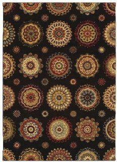 "Shaw Tommy Bahama Home Nylon Murri Suzani 7'9"" x 10'10"" Black Area Rug"
