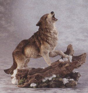 Lawn Ornaments Outdoor Alabastrite Howling Wolf Kitchen & Dining