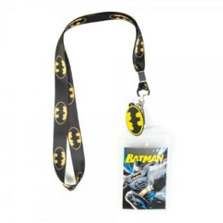 Batman Logo Black Lanyard Movie And Tv Fan Apparel Accessories Clothing