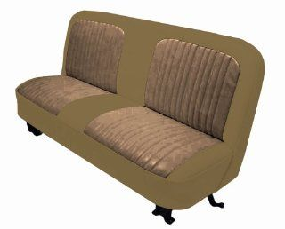 Acme U107 621H Front Palomino Vinyl Bench Seat Upholstery with Beige Encore Velour Pleated Inserts Automotive