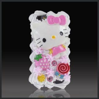 Treats by CellXpressions Hello Kitty Strawberry & Lollipop Ice Cream cake case cover for HTC One V T320e Cell Phones & Accessories