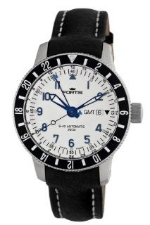 Fortis Men's 650.10.12 L.01 B 42 Diver Automatic Black Leather Date Watch Watches