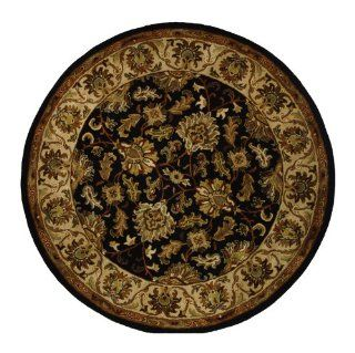 Safavieh Heritage Collection HG628B Handmade Black and Ivory Hand Spun Wool Area Rug, 3 Feet 6 Inch, Round   Traditional Area Rugs