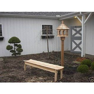 Western Cedar Octagon Bird Feeder   XL   Amish Made  Wild Bird Feeder Accessories  Patio, Lawn & Garden