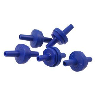 5 Pcs Blue Plastic Check Valves for Fish Tank Aquarium Air Pump  Aquarium Water Pump Supplies