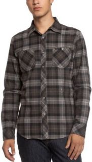 RVCA Men's Mcrae Long Sleeve Shirt, Industrial Grey, Small at  Men�s Clothing store Button Down Shirts