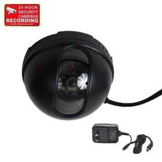VideoSecu Color CCD Dome CCTV Security Camera 3.6mm Wide Angle Lens for Home Surveillance DVR System with Power Supply and Free Warning Sticker CAA  Camera & Photo