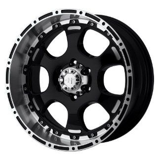 "Helo HE842 Gloss Black Machined Wheel   (16x8""/6x5.5"") Automotive"