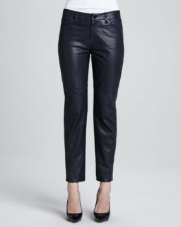 Womens Paulette Cropped Leather Pants   J Brand Ready to Wear