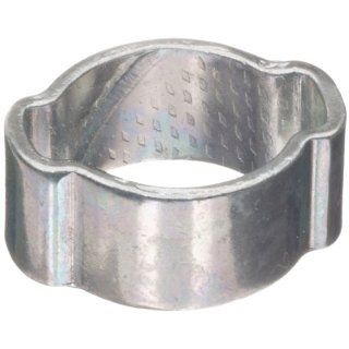 "Dixon 1720 Zinc Plated Steel Pinch On Double Ear Clamp, 3/4"" Hose ID, 0.638""   0.787"" Hose OD Range (Pack of 100) Single Ear Clamps"