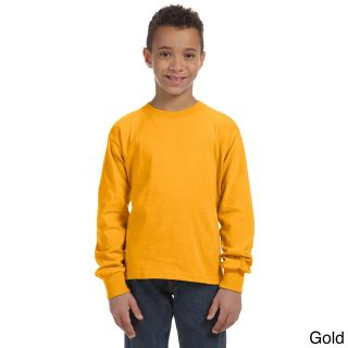Fruit Of The Loom Fruit Of The Loom Youth Heavy Cotton Hd Long Sleeve T shirt Gold Size L (14 16)