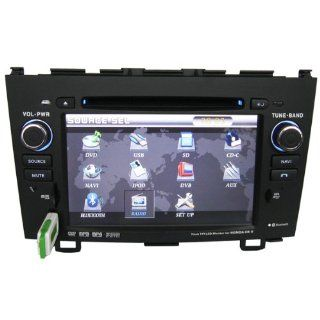 Rupse Brand New 2007, 2008, 2009, 2010 Honda CRV CR V Hd DVD 7 Inch 800*480 Digital TFT LCD Touch Screen GPS Navigation System with Radioam/fm, Bluetooth Hands Free, Ipod, Rds, USB Slot and Rear View Function  In Dash Vehicle Gps Units  GPS & Navigat
