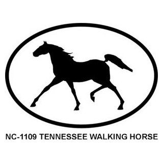 TENNESSEE WALKING HORSE Oval Bumper Sticker Automotive