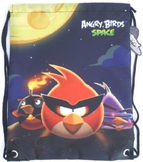 ANGRY BIRDS SPACE Swim Bags, School Drawstring Backpack, Gym PE   gifts for kids, childrens, teenagers girls, boys, son, daughter, niece, nephew, travel, sports, swimming pool, birthday, christmas, picnic. Toys & Games